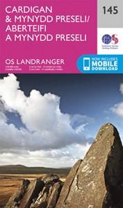 Cardigan & Mynydd Preseli OS Landranger Map 145 (paper)