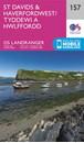 St David's & Haverfordwest OS Landranger Map 157 (paper)