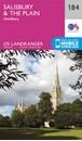 Salisbury & The Plain - Amesbury OS Landranger Map 184 (paper)