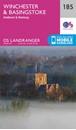 Winchester, Basingstoke, Andover & Romsey OS Landranger Map 185 (paper)