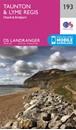 Taunton, Lyme Regis, Chard & Bridport OS Landranger Map 193 (paper)