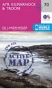 Ayr, Kilmarnock & Troon OS Landranger Active Map 70 (waterproof)