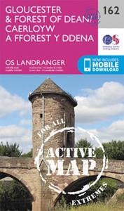 Gloucester & Forest of Dean OS Landranger Active Map 162 (waterproof)