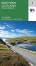 Northern Scotland, Orkney & Shetland OS Road Map 1