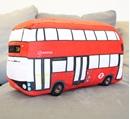Red London Bus Cushion