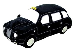 London Black Taxi Cushion