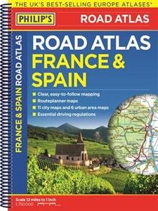 France & Spain Philip's Road Atlas