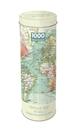 Tin Capsule Puzzle - Vintage Map