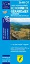 Le Hohneck - Gérardmer - La Bresse - PNR des Ballons des Vosges SINGLE-SIDED, PAPER IGN TOP25 Map 3618OT
