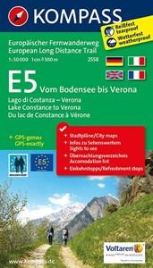 Lake Constance to Verona - E5 European Long-Distance Trail Kompass 2558