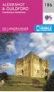 Aldershot, Guildford, Camberley & Haslemere OS Landranger Map 186 (paper)