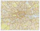 London Premier A-Z Wall Map ENCAPSULATED