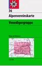 Venedigergruppe Alpenverein KOMBI Map 36