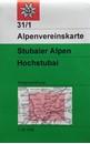 Stubai Alps - Hochstubai Alpenverein KOMBI Map 31/1