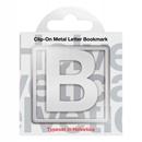 Helvetica B Clip-On Metal Letter Bookmark