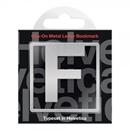 Helvetica F Clip-On Metal Letter Bookmark