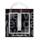Helvetica I Clip-On Metal Letter Bookmark