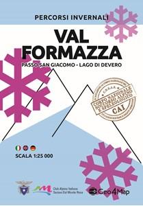 Val Formazza - Passo San Giacomo - Lago di Devero Winter Sports Map