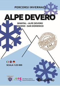 Alpe Devero - Binntal - Alpe Devero - Baceno - San Domenico Winter Sports Map