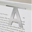 Helvetica S Clip-On Metal Letter Bookmark