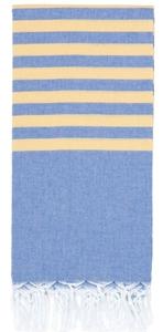 Clara Hamam Towel - Cornflower / Daisy