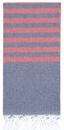 Clara Hamam Towel - Navy / Red