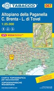 Altopiano della Paganella - L. di Tovel - C. Brenta - Trento Tabacco 067