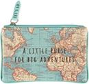 Vintage Map Little Purse For Big Adventures