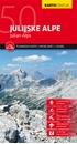 Julian Alps Kartografija WATERPROOF Hiking Map
