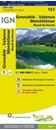 Grenoble - Valence - Montelimar - Massif du Vercors IGN TOP100 157