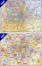 London A-Z Postcode & Administrative Boundaries Wall Map ENCAPSULATED