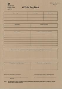 MCA Official Log Book Part I - UK Flag registered Vessels