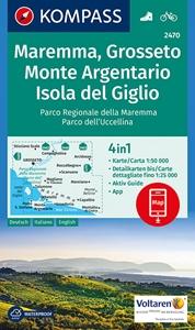 Maremma - Grosseto - Monte Argentario - Isola di Giglio Kompass 2470