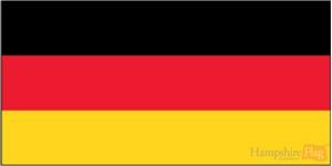 Germany flag- 1 yard - sewn