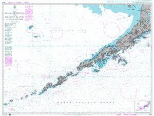 Admiralty Chart 4977 - Alaska Peninsula and Aleutian Islands to Seguam Pass