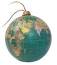 Globe Bauble - Blue