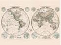 Stanfords-Eastern-and-Western-Hemispheres-Map-1887-60x80cm-Canvas-Print_5051265980854