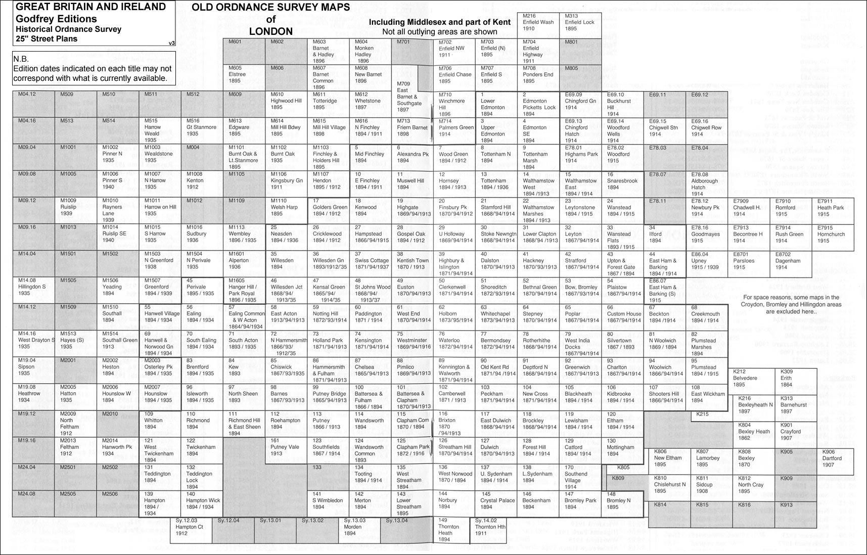 Old Ordnance Survey Detailed  Maps Peckham London 1914 Godfrey Edition New