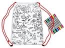 Doodle World Map Backpack