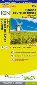 Roanne - Bourg-en-Bresse - Mâconnais Bresse et Dombes IGN TOP100 142