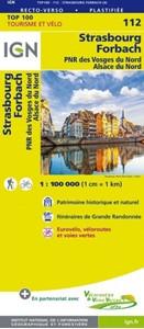 Strasbourg - Forbach - PNR des Vosges du Nord - Alsace du Nord IGN TOP100 112