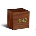 Cube-Click-Clock-Walnut-Green-LED_0700900316439