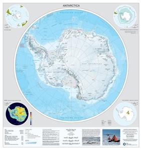 Antarctica and the Arctic BAS Wall Map