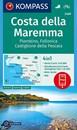 Maremma Coast - Piombino - Follonica - Castiglione della Pascaia Kompass 2469