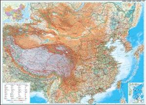 China Gizi Map Geographical Wall Map