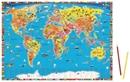 World Children's Illustrated Political Kruger & Schonhoff Map Desk Mat