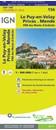 Le Puy-en-Velay - Privas - Mende - PNR des Monts d'Ardeche IGN TOP100 156