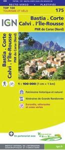 Bastia - Corte - Calvi - Ile Rousse - PNR du Corse (Nord) IGN TOP100 175