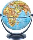 Political World Globe 15cm: Swivel and Tilt World Political Globe