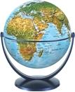 Physical World Globe 15cm: Swivel and Tilt World Physical Globe